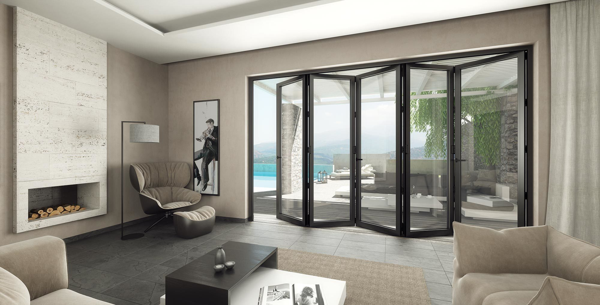 bifold patio doors portes-patio accordéon